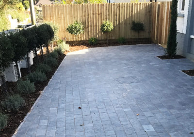 Residential groundworks example - landscaping in north devon